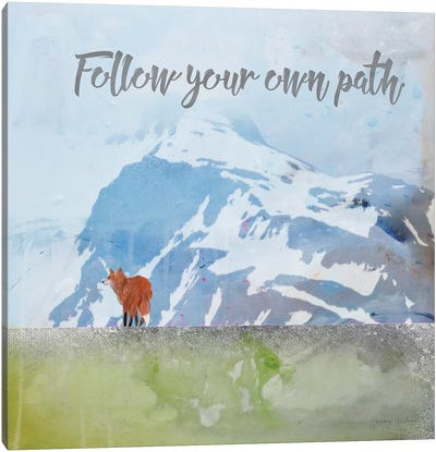 Follow Your Own Path Canvas Art Print