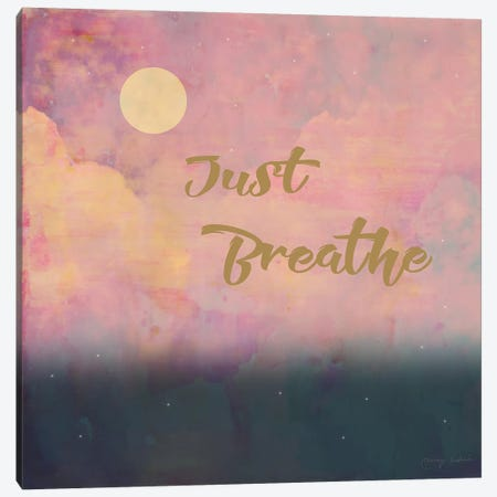 Just Breathe Canvas Print #TMK53} by Tammy Kushnir Canvas Wall Art