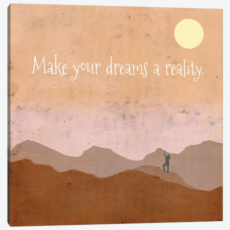 Make Your Dreams A Reality 3-Piece Canvas #TMK54} by Tammy Kushnir Canvas Print