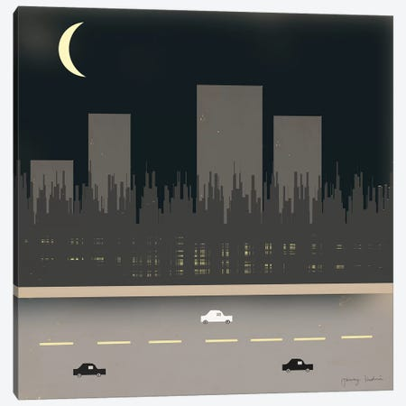 Nightime In The City I Canvas Print #TMK55} by Tammy Kushnir Canvas Print