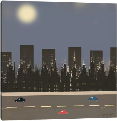 Nightime In The City II Canvas Art Print