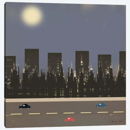 Nightime In The City II 3-Piece Canvas #TMK56} by Tammy Kushnir Canvas Art Print