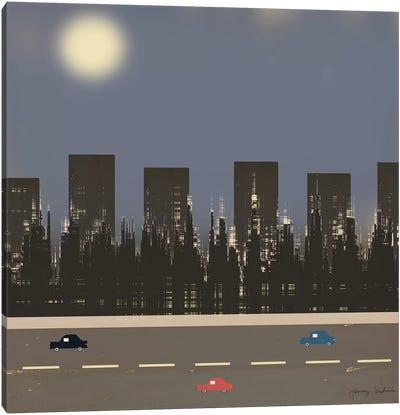 Nightime In The City II Canvas Art Print