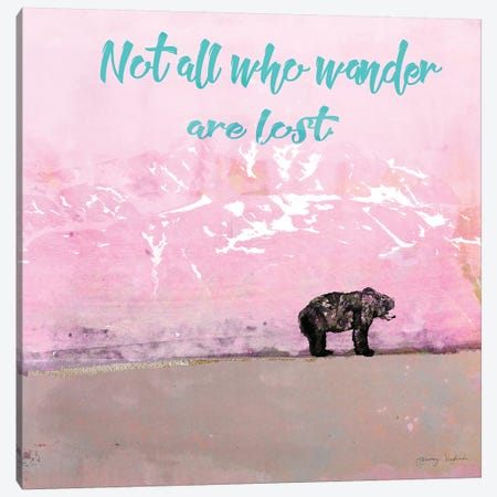 Not All Who Wander 3-Piece Canvas #TMK57} by Tammy Kushnir Canvas Art Print
