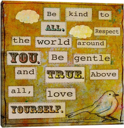 Be Kind To All Canvas Print #TMK7