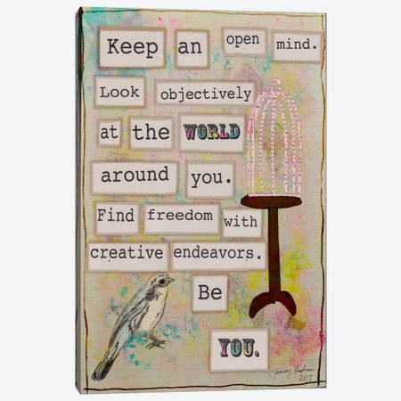 Keep an Open Mind Canvas Print #TMK9} by Tammy Kushnir Art Print
