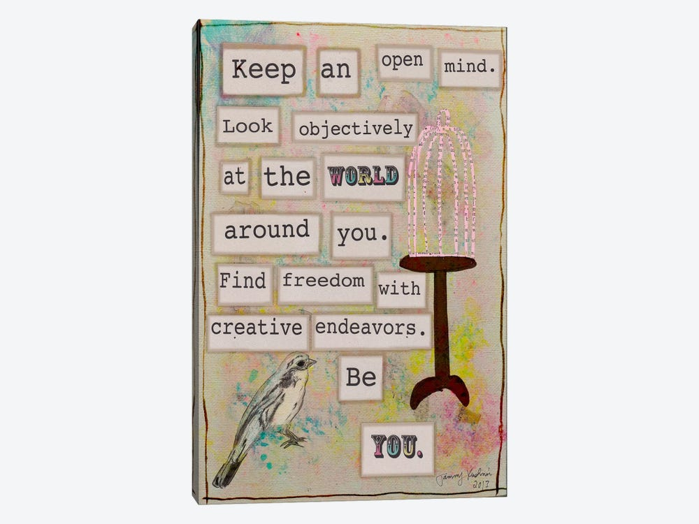 Keep an Open Mind by Tammy Kushnir 1-piece Canvas Wall Art