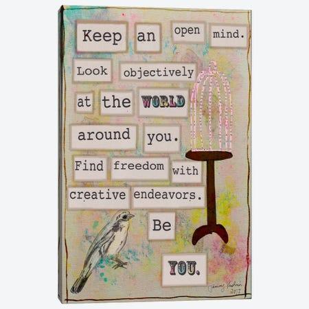 Keep an Open Mind Canvas Print #TMK9} by Tammy Kushnir Art Print