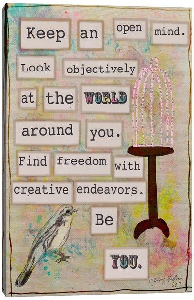 Keep an Open Mind Canvas Art Print