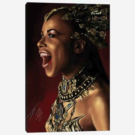 Queen Akasha Canvas Print #TML24} by Tafari Mills Art Print