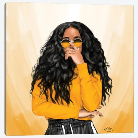 H.E.R Canvas Print #TML7} by Tafari Mills Art Print