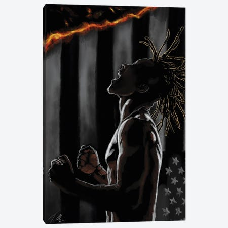Mask Off Canvas Print #TML9} by Tafari Mills Canvas Wall Art