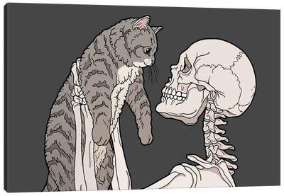 Hello Cat Canvas Art Print