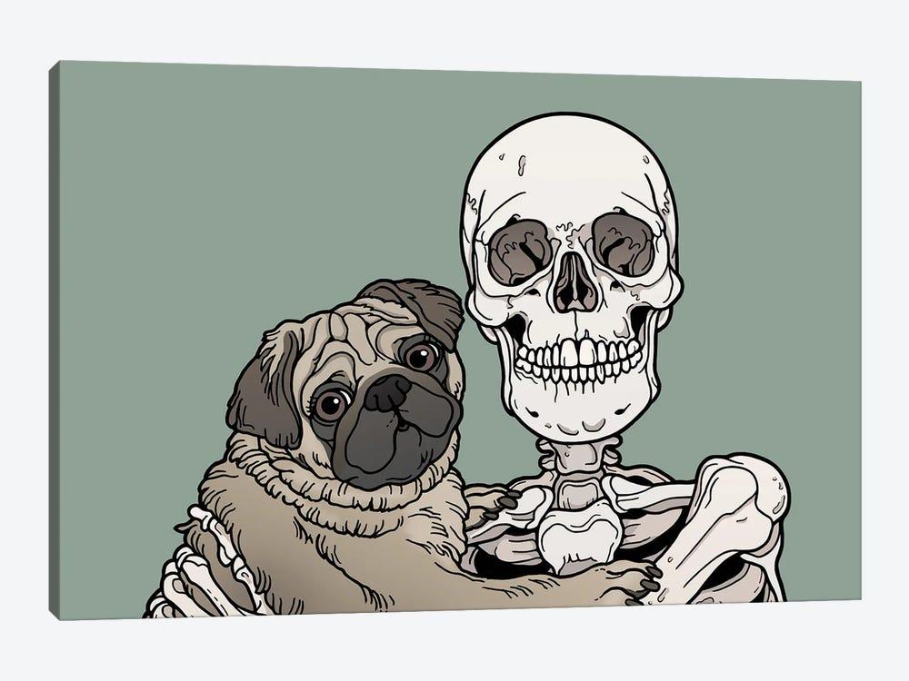 Pug Friend by Tiina Menzel 1-piece Canvas Artwork