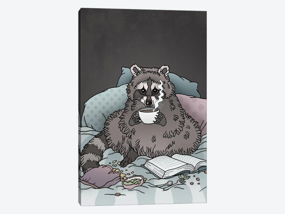 Raccoon by Tiina Menzel 1-piece Canvas Wall Art