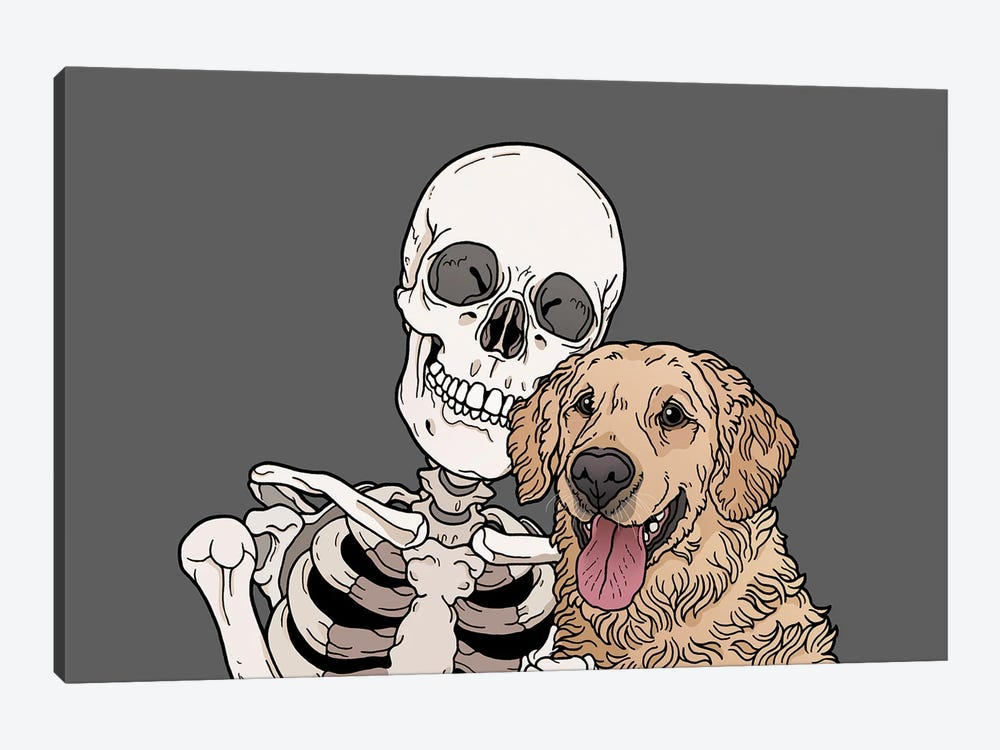 Retriever Friend 1-piece Art Print