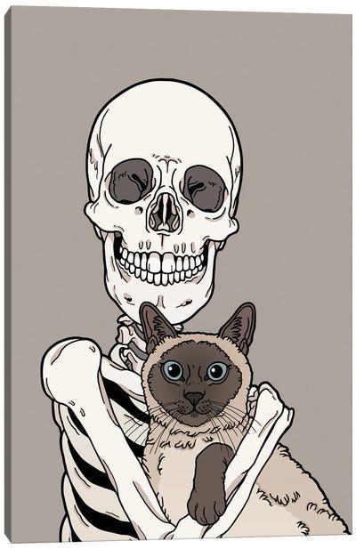 Siamese Cat Friend Canvas Art Print