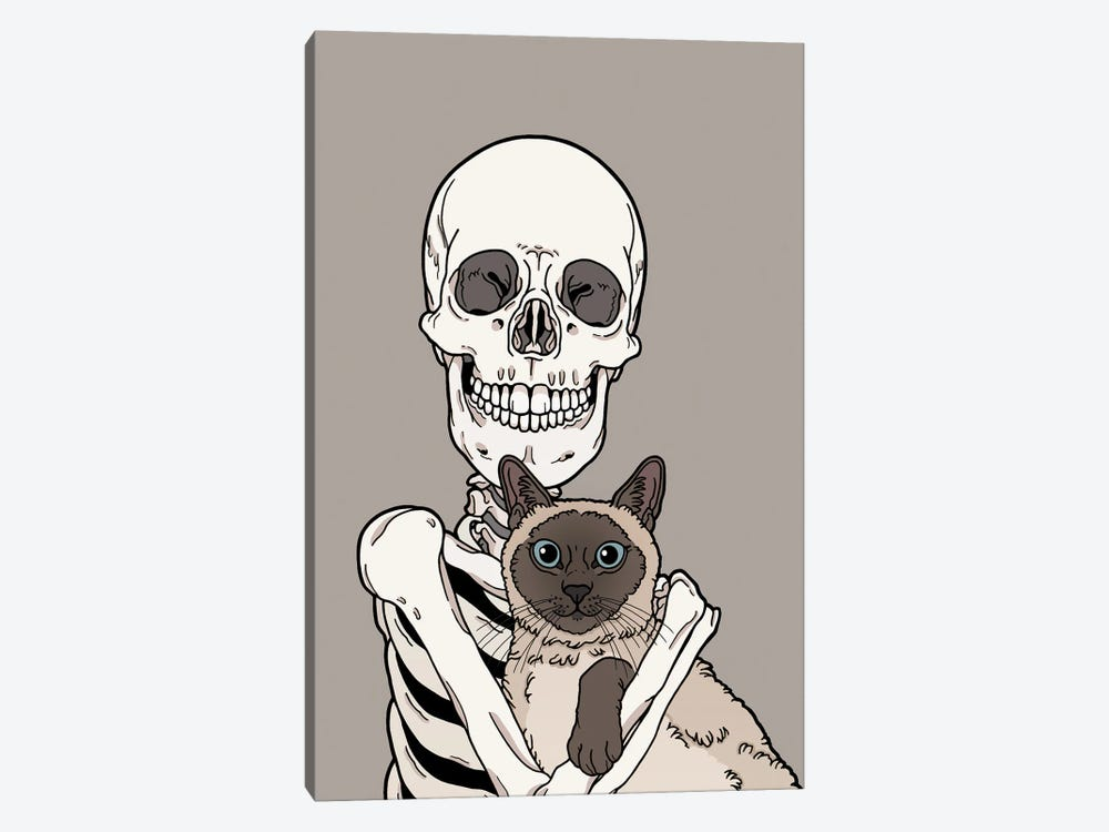 Siamese Cat Friend by Tiina Menzel 1-piece Art Print