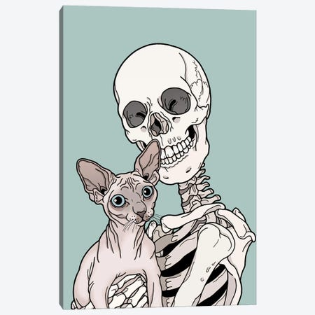 Sphinx Cat Friend 3-Piece Canvas #TMN25} by Tiina Menzel Canvas Print