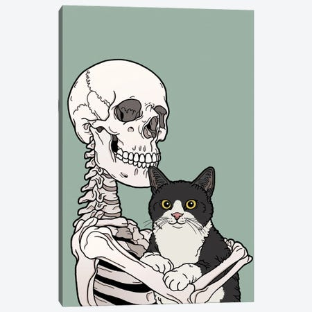 Tuxedo Cat Friend 3-Piece Canvas #TMN28} by Tiina Menzel Canvas Wall Art