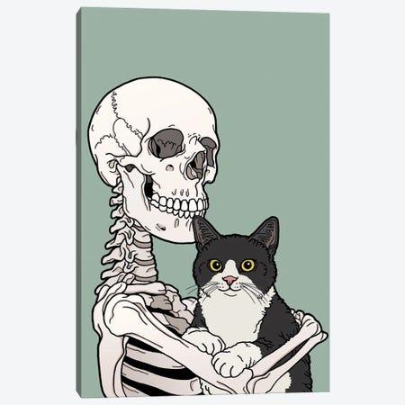 Tuxedo Cat Friend Canvas Print #TMN28} by Tiina Menzel Canvas Wall Art