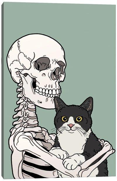 Tuxedo Cat Friend Canvas Art Print