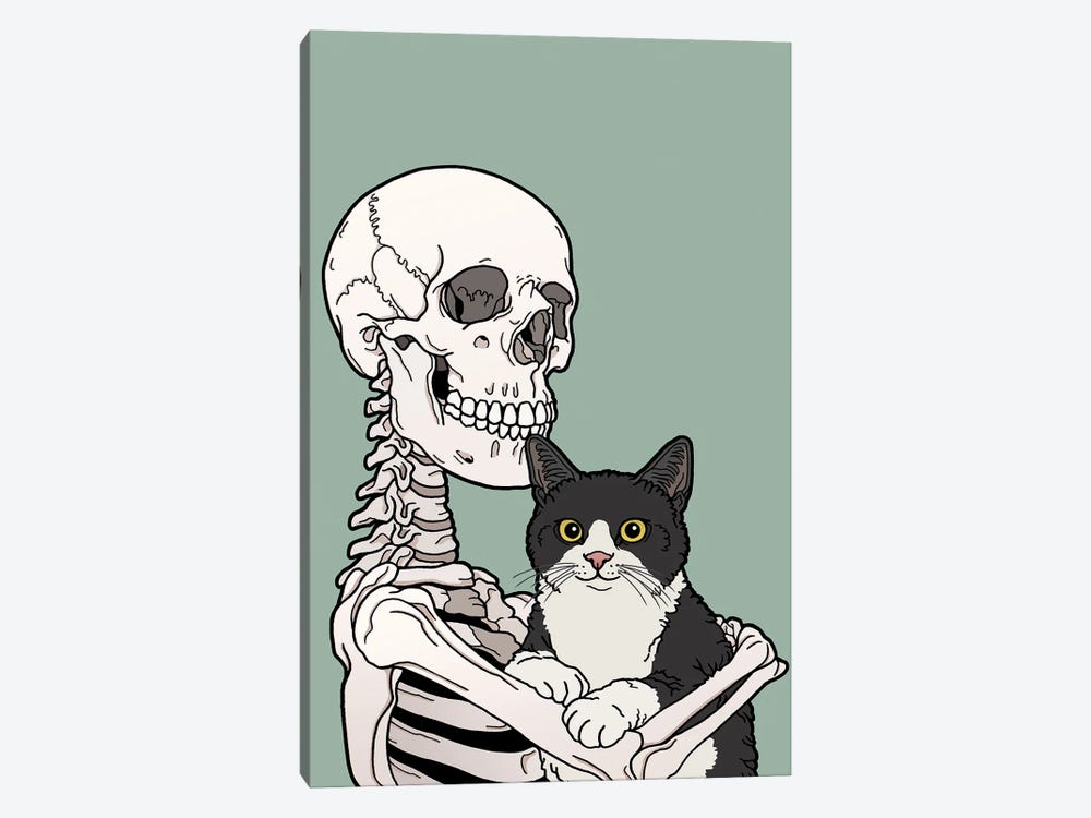 Tuxedo Cat Friend by Tiina Menzel 1-piece Canvas Artwork