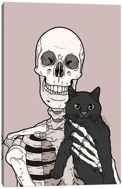 Black Cat Friend Canvas Art Print