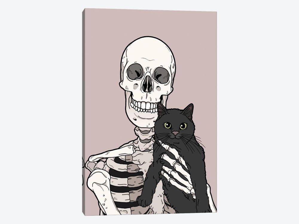 Black Cat Friend by Tiina Menzel 1-piece Canvas Print