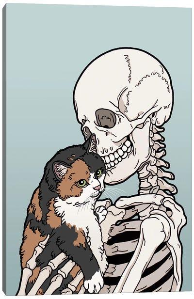 Calico Cat Friend Canvas Art Print