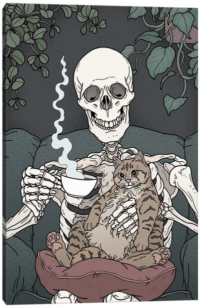 Cat Days Canvas Art Print