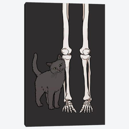 Cat Friend Canvas Print #TMN8} by Tiina Menzel Canvas Artwork