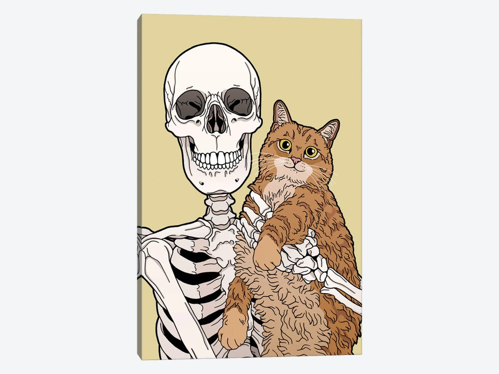 Caturday by Tiina Menzel 1-piece Canvas Art Print