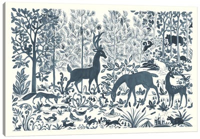 Forest Life I Canvas Art Print