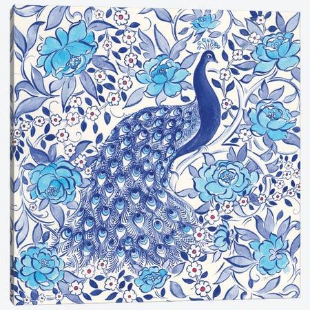 Peacock Garden III Canvas Print #TMS16} by Miranda Thomas Art Print