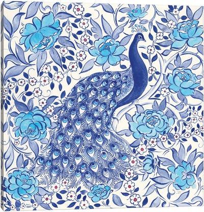 Peacock Garden III Canvas Art Print