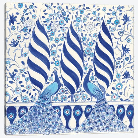 Peacock Garden V Canvas Print #TMS17} by Miranda Thomas Canvas Art Print