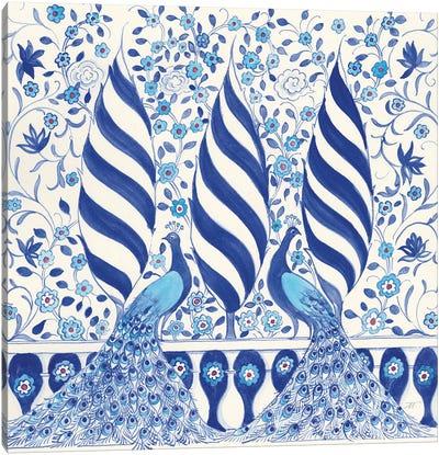 Peacock Garden V Canvas Art Print