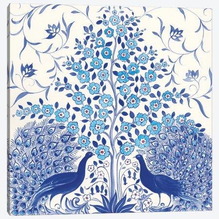 Peacock Garden VIII Canvas Print #TMS18} by Miranda Thomas Canvas Wall Art