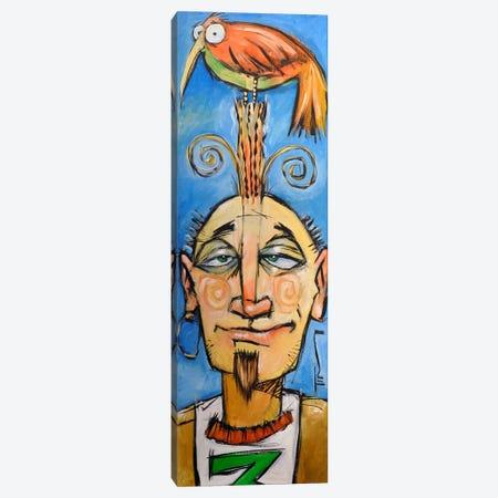 Bird On Head Canvas Print #TNG101} by Tim Nyberg Canvas Print