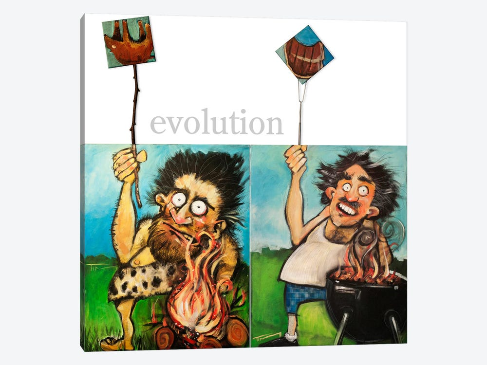 Evolution by Tim Nyberg 1-piece Canvas Print