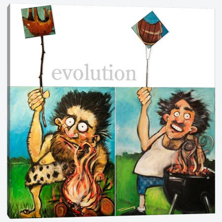 Evolution Canvas Print #TNG115} by Tim Nyberg Art Print