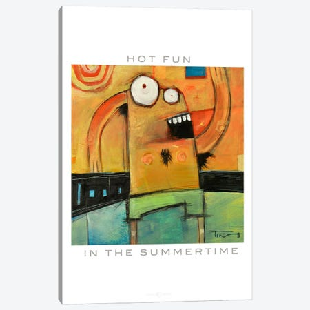 Hot Fun Poster Canvas Print #TNG130} by Tim Nyberg Canvas Wall Art