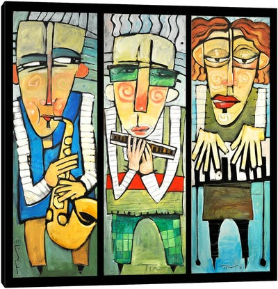 Jazz Trio Canvas Art Print