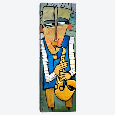 Saxophone Player Canvas Print #TNG138} by Tim Nyberg Canvas Artwork