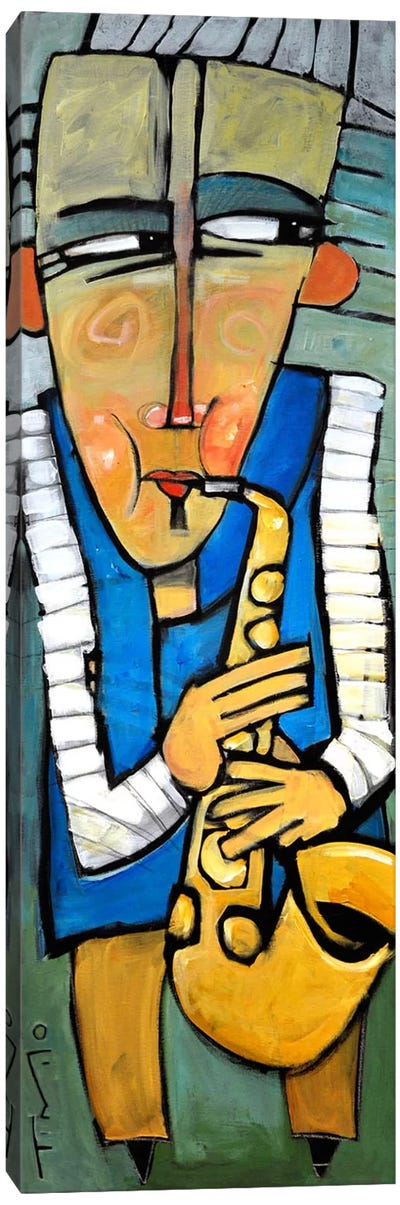 Saxophone Player Canvas Art Print