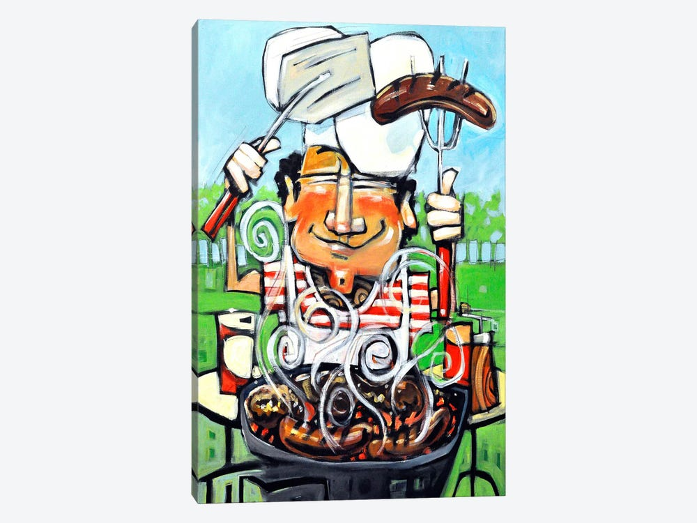 King Of The Grill by Tim Nyberg 1-piece Art Print