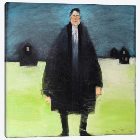Man In Black Coat Canvas Print #TNG144} by Tim Nyberg Canvas Wall Art