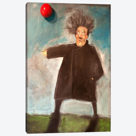 Man With A Balloon Over There Canvas Print #TNG150} by Tim Nyberg Canvas Wall Art