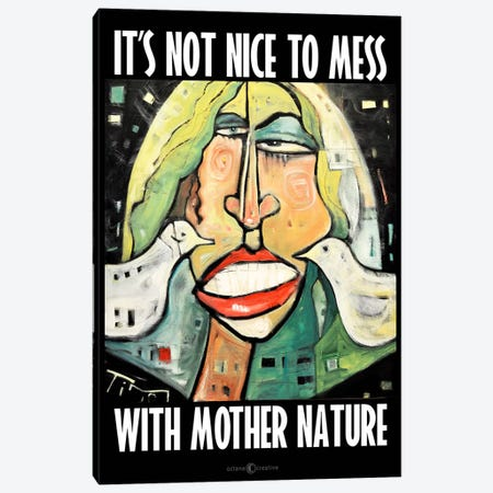Mother Nature Poster Canvas Print #TNG153} by Tim Nyberg Canvas Wall Art
